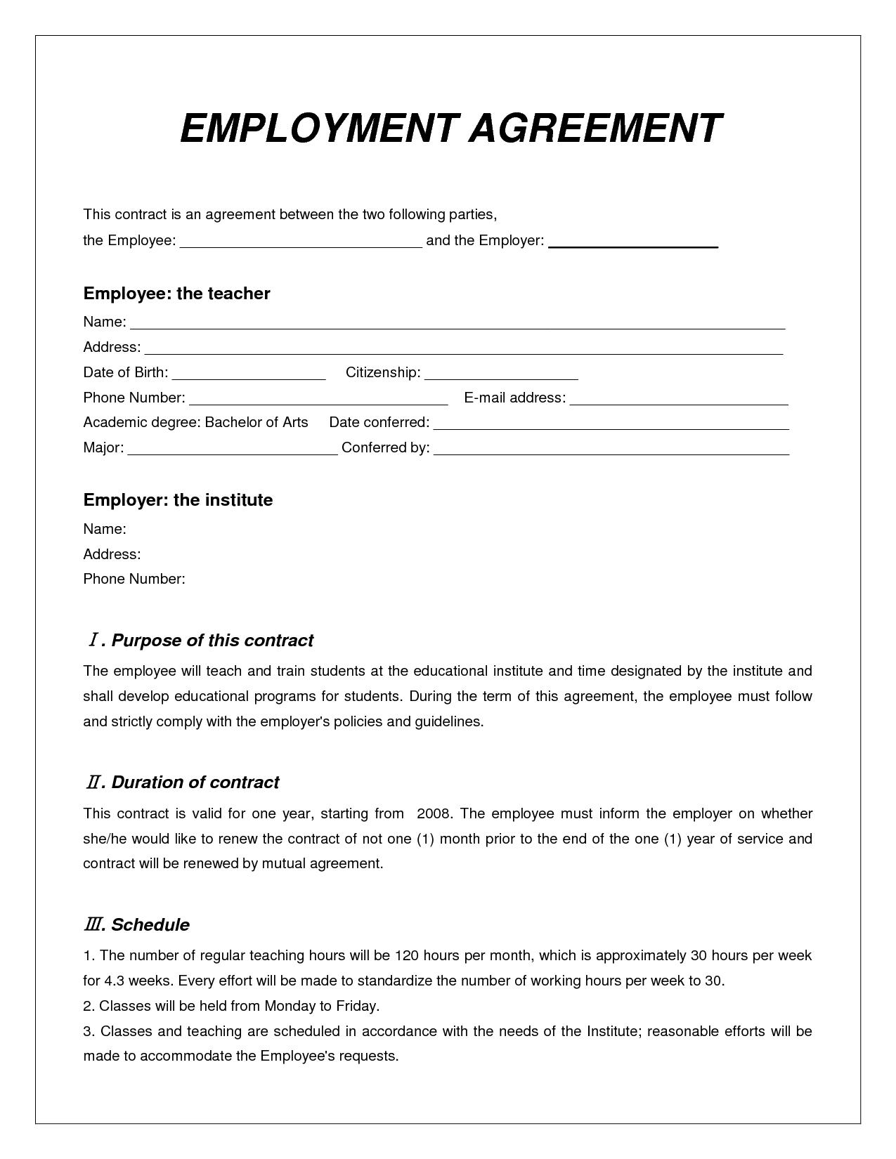 job contract sample doc