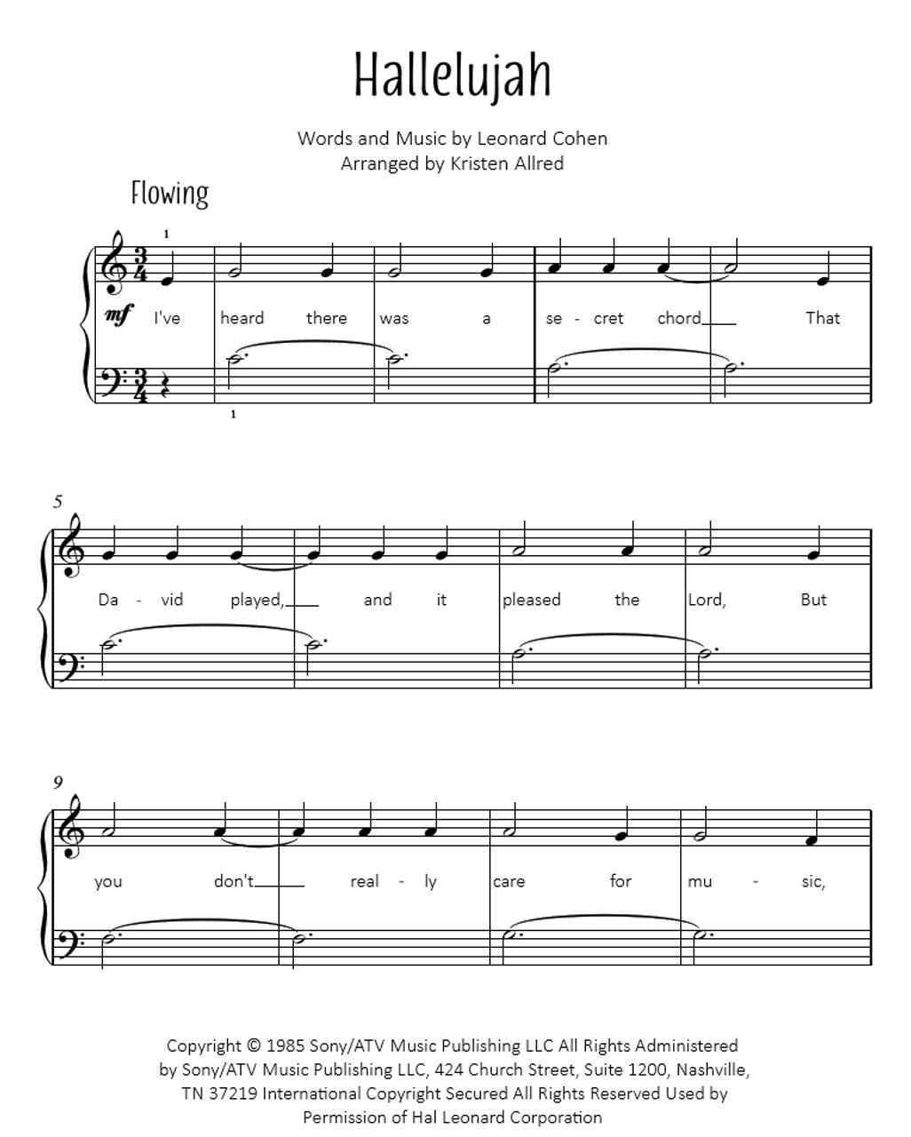hallelujah junction piano sheet music pdf