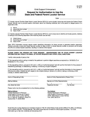 enforcement order application