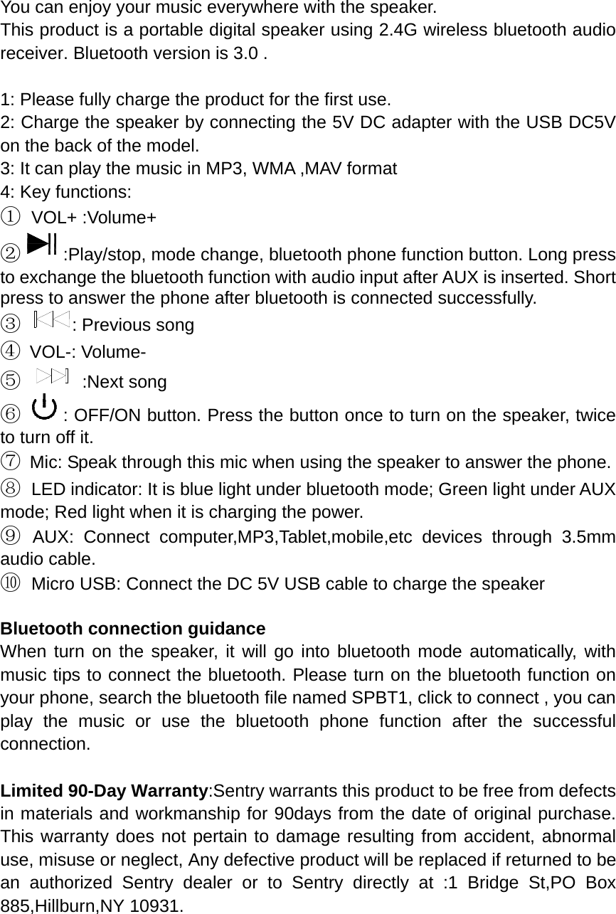 manual bluetooth speaker