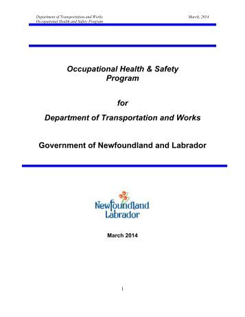 health and safety program manual