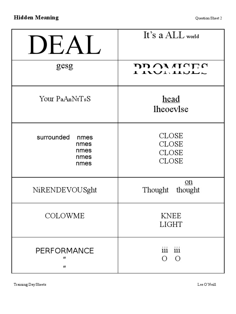 hidden meaning brain teasers pdf