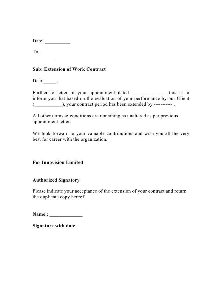 extension letter sample