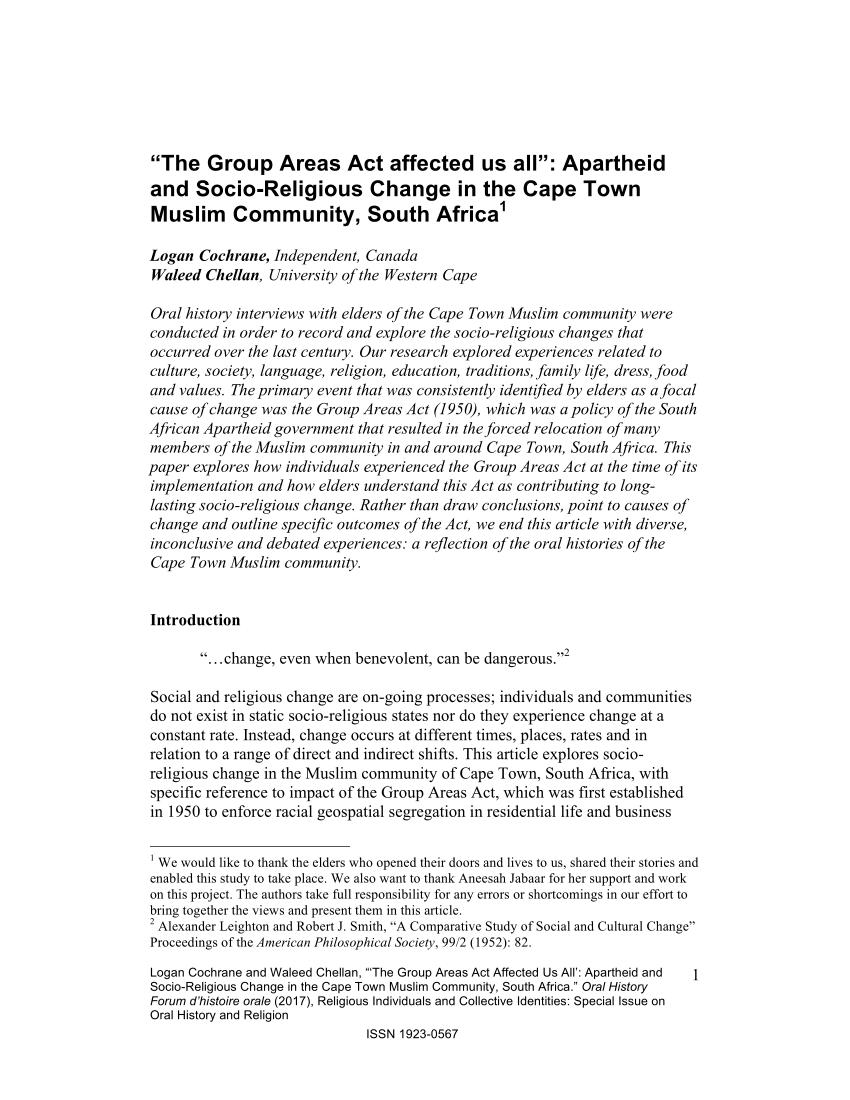 group areas act 1950 pdf