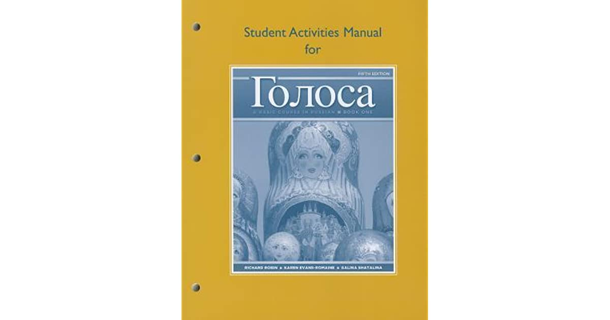 golosa basic course in russian student activities manual