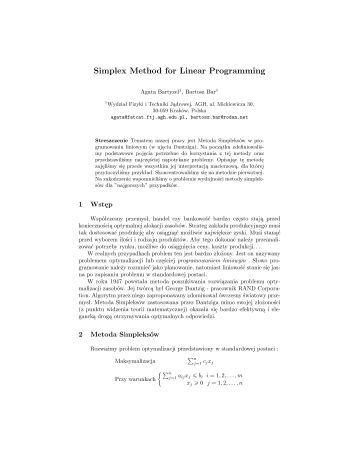 linear programming simplex method pdf
