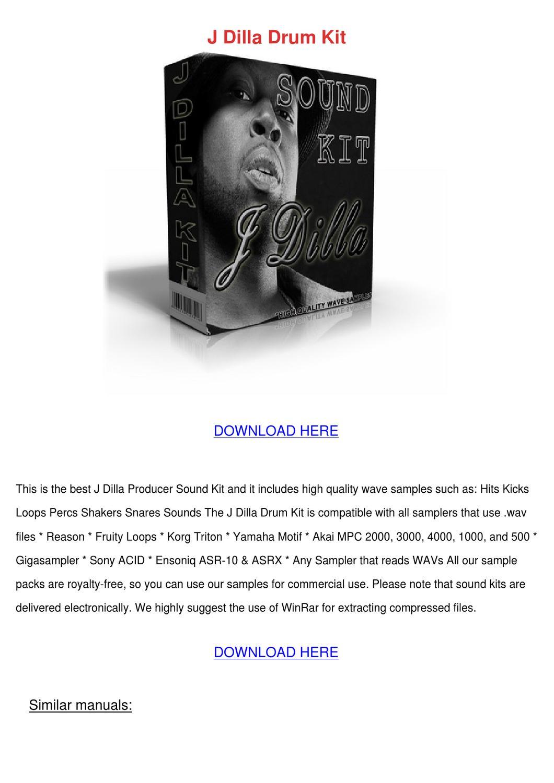 j dilla sample pack