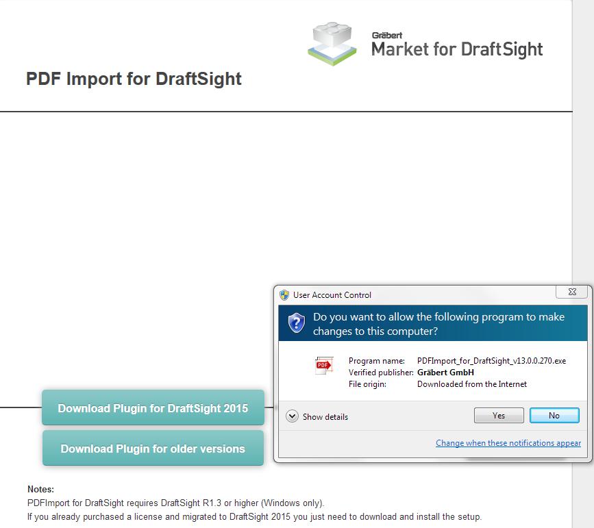 import pdf into draftsight