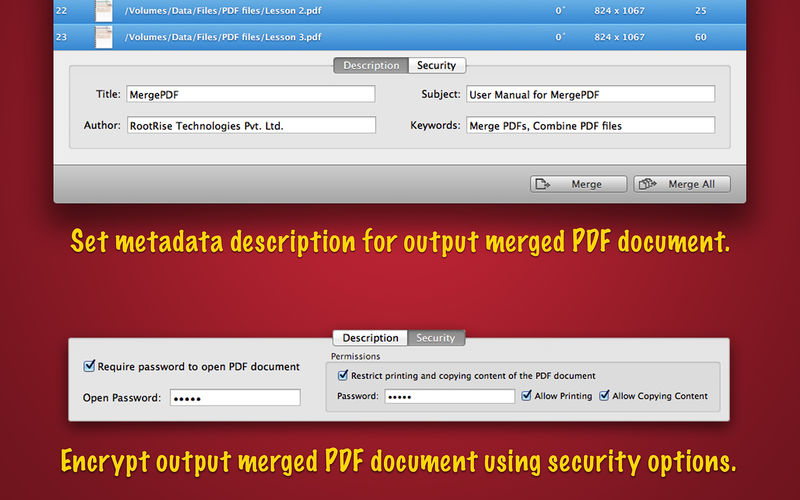 how to merge two pdf files in c