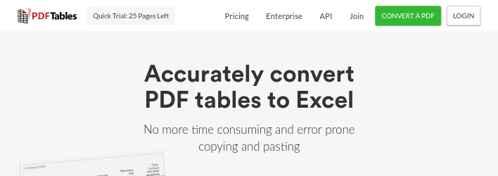 free online convert pdf to excel