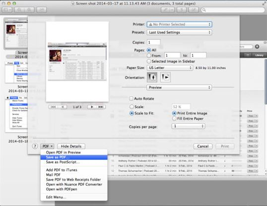 how to make pdf of images preview for mac