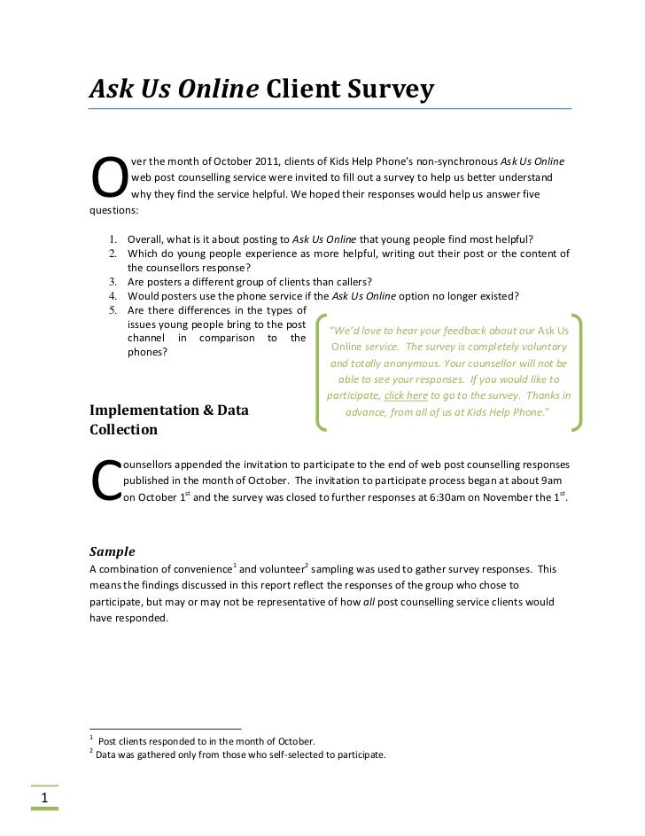 group counselling report sample