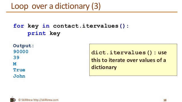 how to access values in a dictionary python