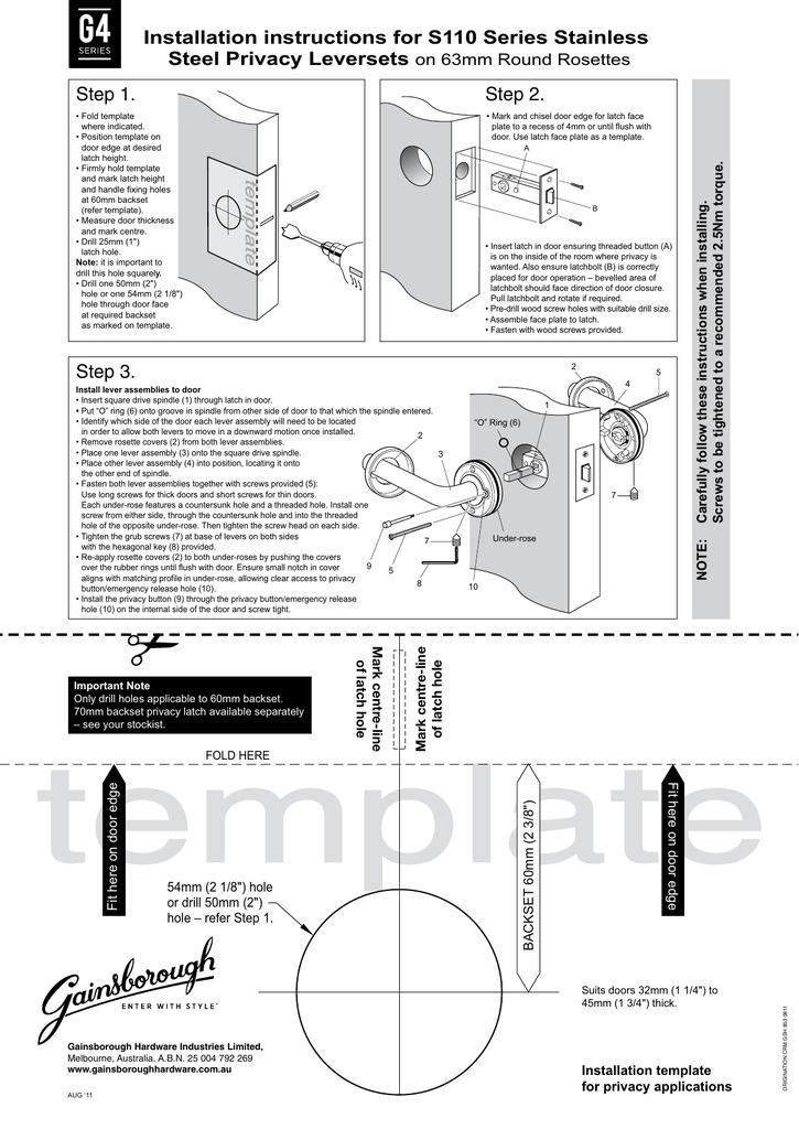 installation manual template