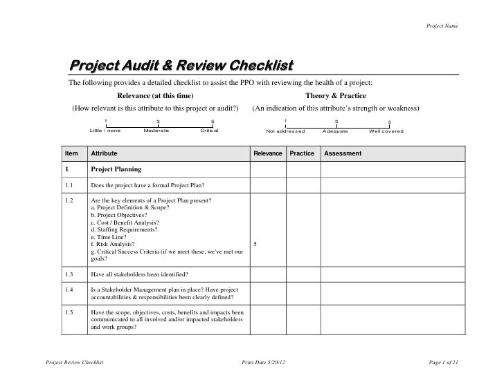 it audit checklist pdf