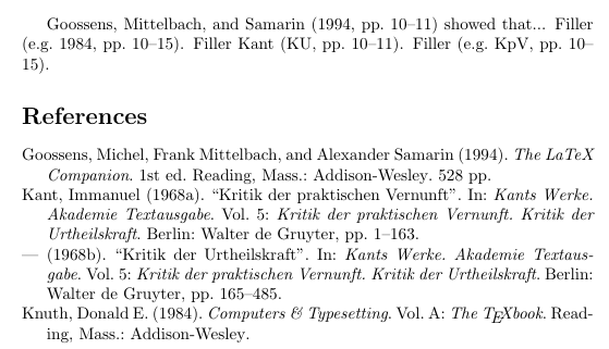 harvard reference list sample