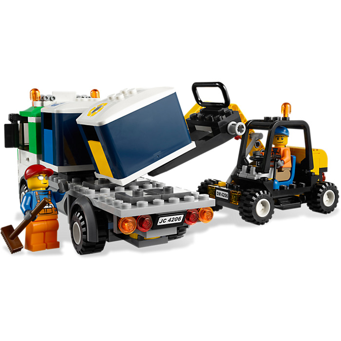 lego recycling truck 4206 instructions