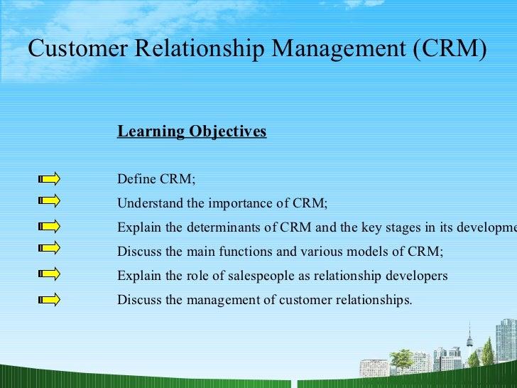 importance of customer relationship management pdf