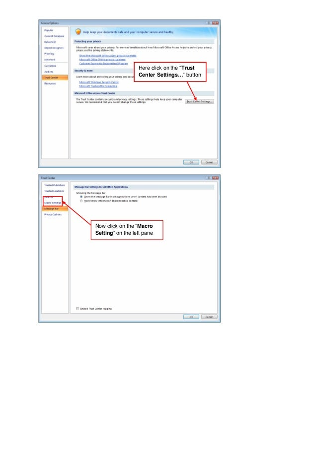 macros in access 2007 tutorial pdf