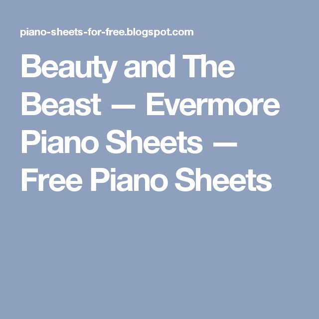 evermore beauty and the beast sheet music free pdf
