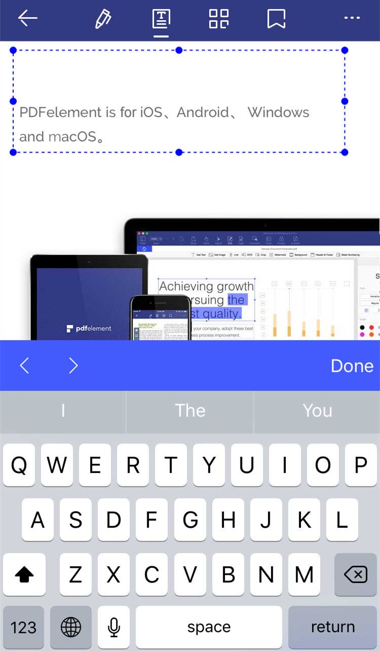 how to delete text in pdf in mobile