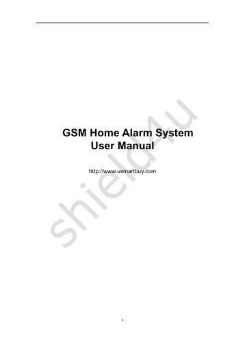 gsm alarm system manual