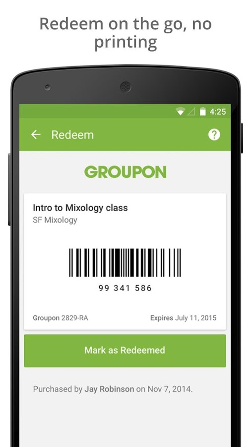 groupon application