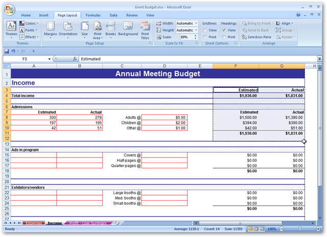 how to save excel as pdf on one page