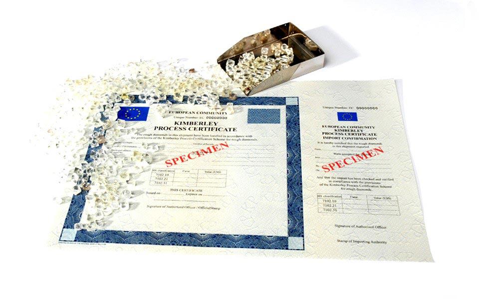 kimberley process certificate sample