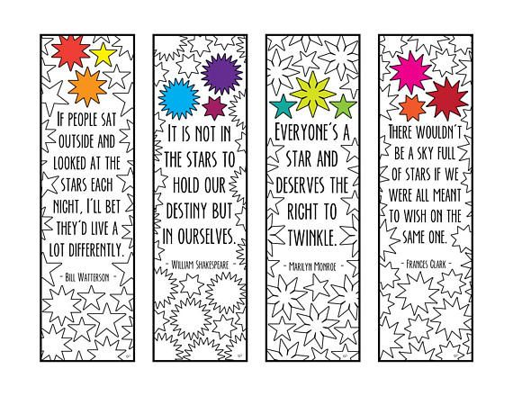 free printable bookmarks with quotes pdf