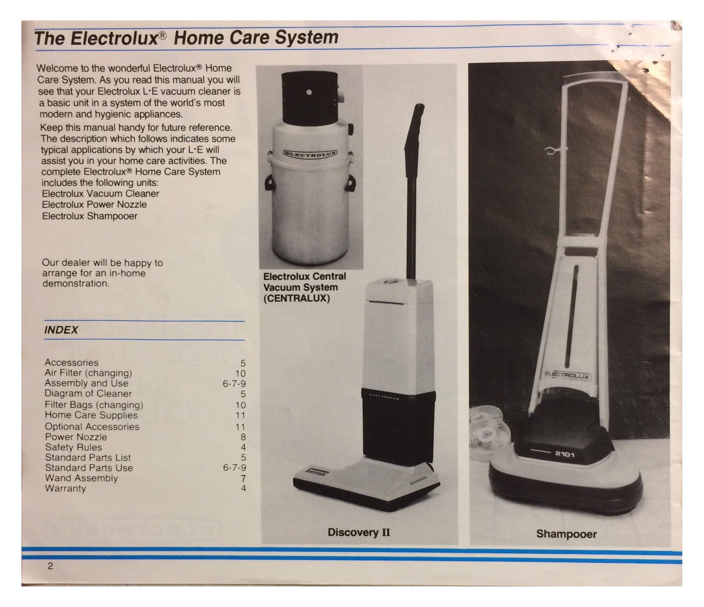 electrolux vacuum manual