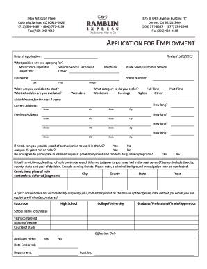 express employment application