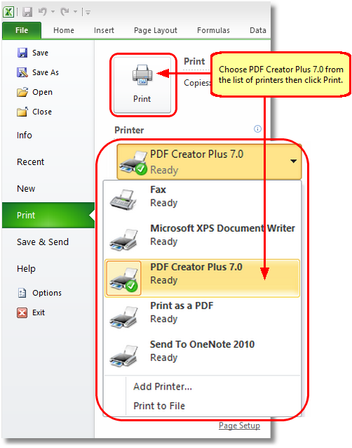 excel file convert to pdf