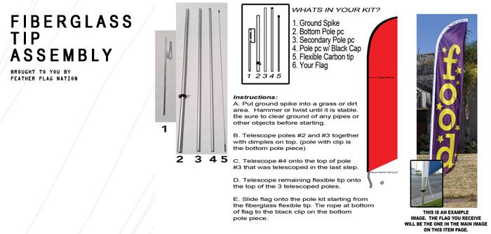 feather flag pole kit instructions