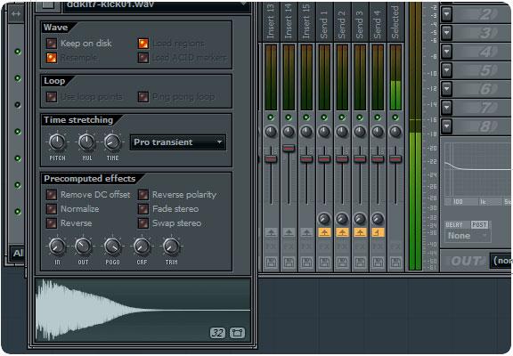 fl studio clipping sound at start of sample