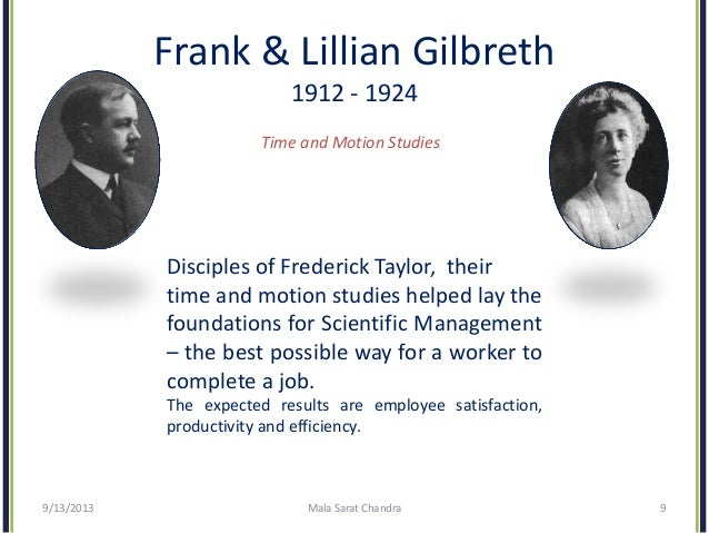 frank and lillian gilbreth scientific management theory pdf