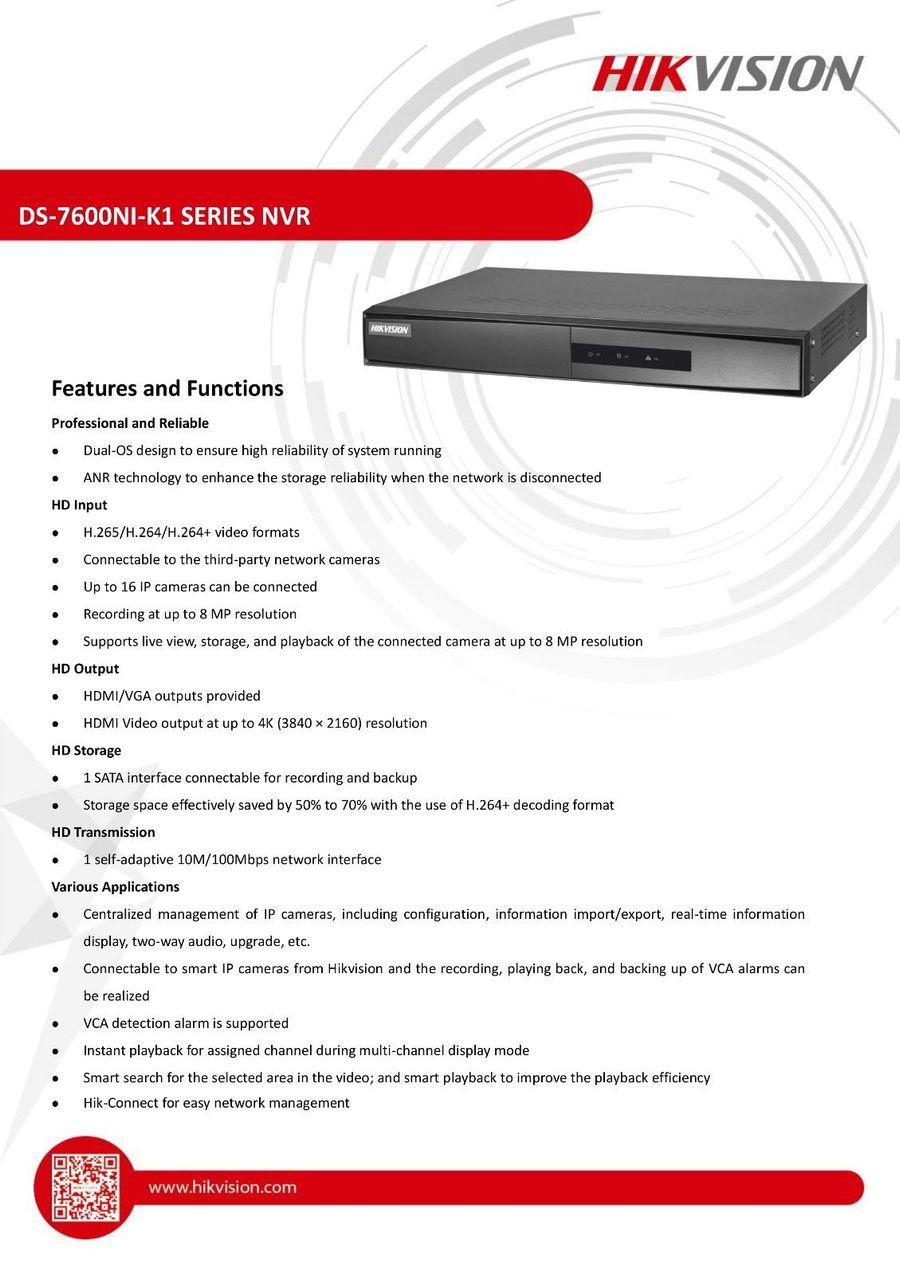 hikvision ds-7604ni-k1 4p user manual