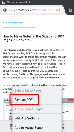 how to convert webpage to pdf