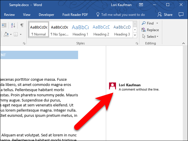 how to pdf word without showing comments