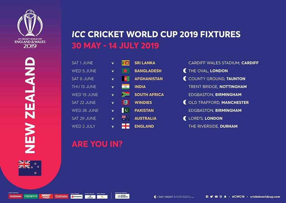 icc world cup 2019 schedule pdf in nz time