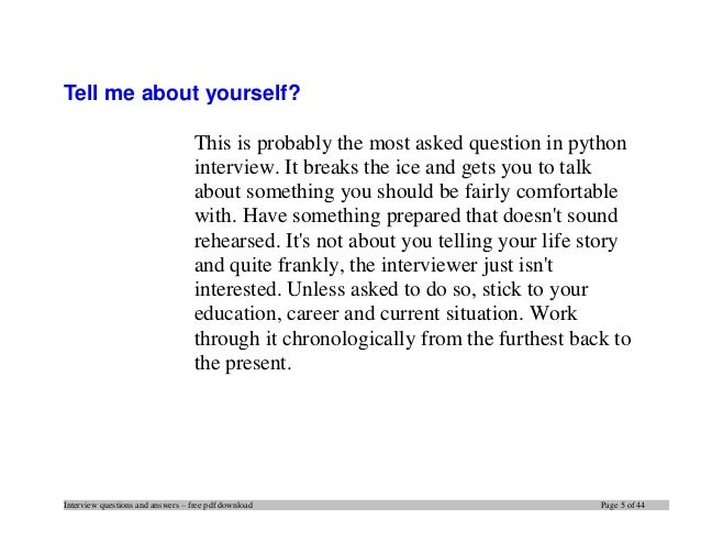 interview tips pdf