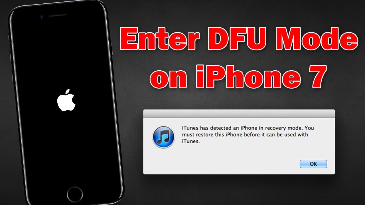 iphone 7 dfu mode instructions