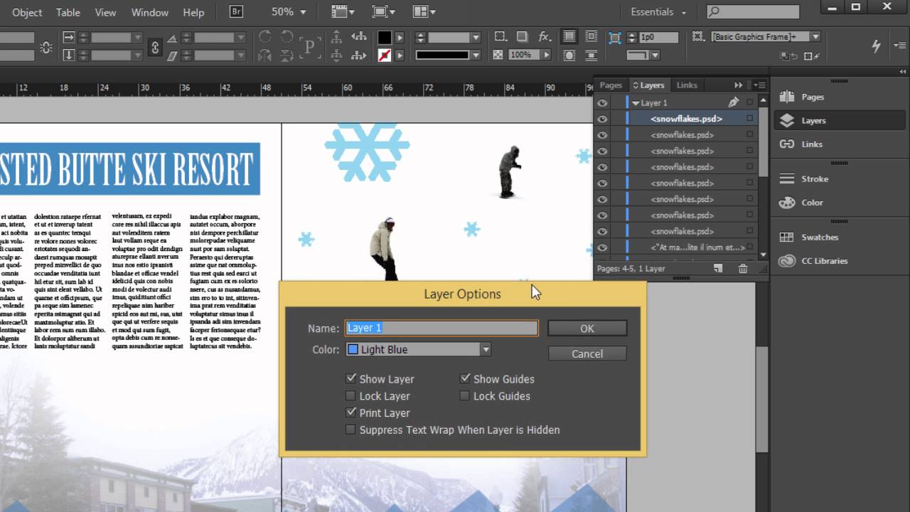 keep indesign layers exporting to pdf