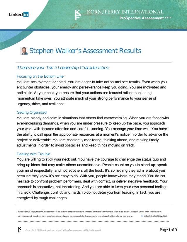 korn ferry assessment of leadership potential sample test